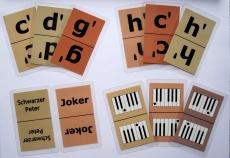Notenkartenspiel für Klavier - Mau-Mau, Schwarzer Peter, Halli-Galli, Quartett mit Noten spielen