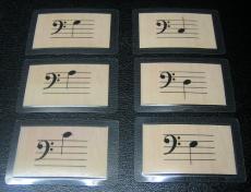 Notenkarten c - c (Bassschlüssel)