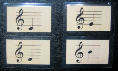 Notenkarten c -h (Violinschlüssel)