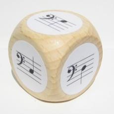Notenwürfel c bis g, Bassschlüssel, für Klavier
