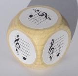 Notenwürfel G bis d mit oktavierenden Notenschlüssel, für Gitarre