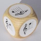 Notenwürfel c bis g mit oktavierenden Notenschlüssel, für Gitarre