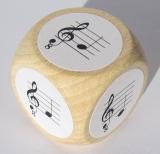 Notenwürfel c bis g, mit oktavierenden Notenschlüssel, für Gitarre
