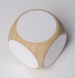 Holzwürfel mit abwischbaren Etiketten, unbegrenzt wiederbeschreibbar