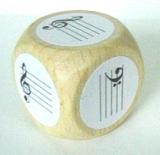 Notenschlüsselwürfel Violin- und Bassschlüssel