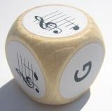 Notenwürfel g bis d, Violinschlüssel, für Geige