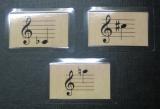 Notenkarten Noten mit Vorzeichen