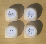 Notenwürfelspiel für Intervalle und Akkorde (Tonbereich c - h)