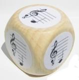 Notenwürfel E bis c mit oktavierenden Notenschlüssel, für Gitarre