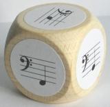 Notenwürfel F bis c, Bassschlüssel, für Klavier